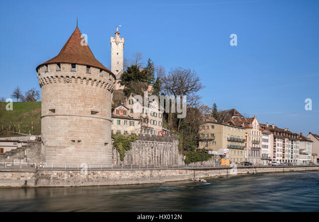 Lucerne, Reuss, Noelliturm, Switzerland, Europe - Stock-Bilder