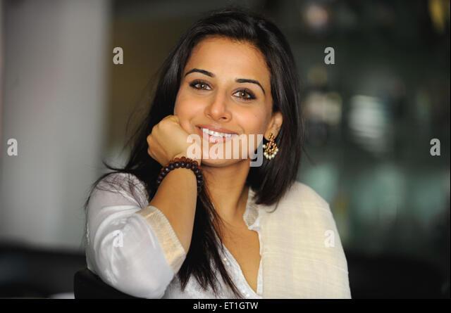 Bollywood actress vidya balan - Stock-Bilder