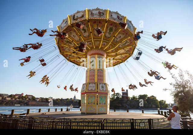 Grona Lund amusement park, Djurgarden, Stockholm, Sweden, Scandinavia, Europe - Stock Image