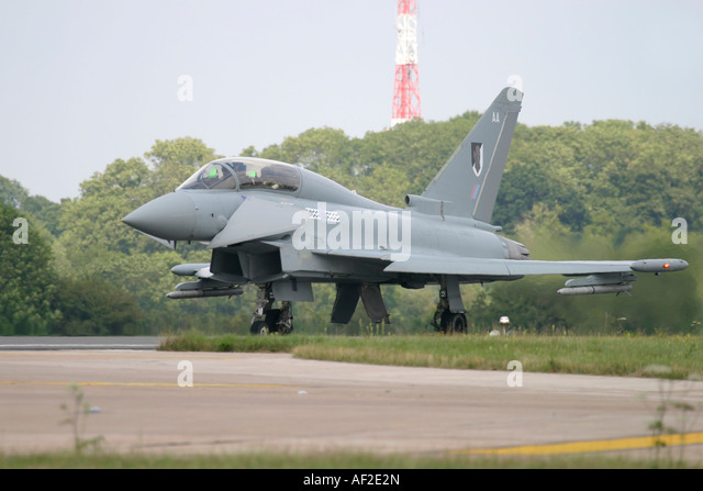 UK Air Force Eurofighter EF-2000 Typhoon T1 - Stock Image