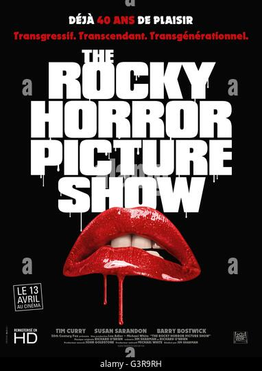 The Rocky Horror Picture Show Year : 1975 USA / UK Director : Jim Sharman Movie poster (Fr) - Stock Image