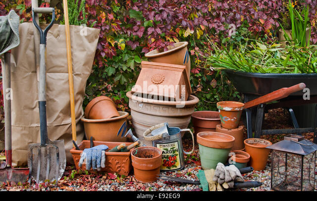 Closing the Garden - Stock Image