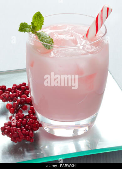 Candy Cane Holiday Cocktail - Stock Image