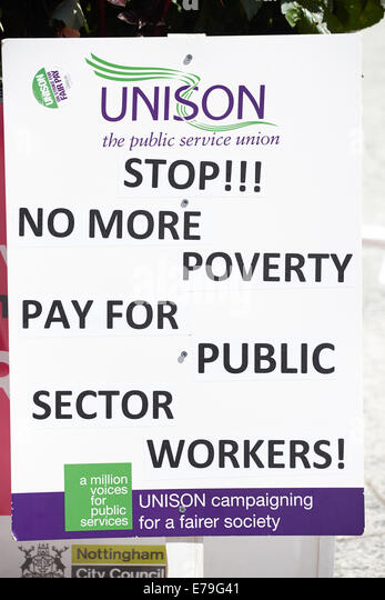 Unison protest board - Stock Image
