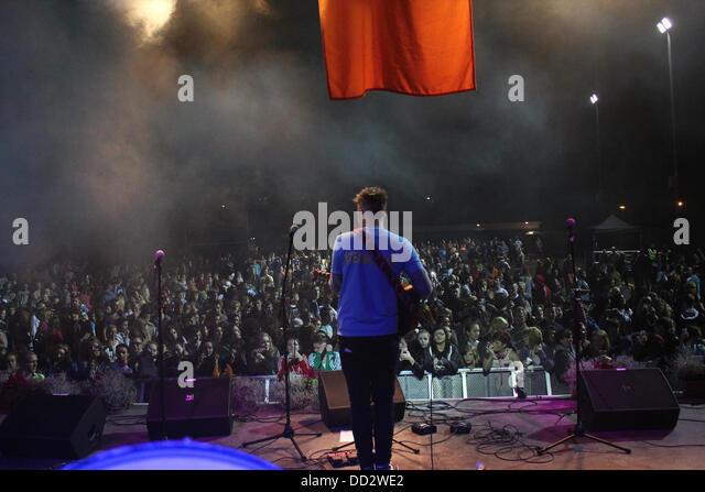 Ardoyne, Belfast, Northern Ireland, UK. 23rd August 2013. Ardoyne Fleadh - Day 1 - Concert featuring Jordan O'Keefe, - Stock Image