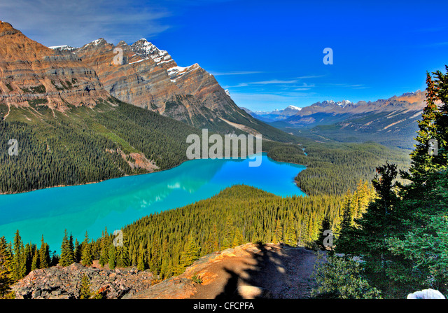 Peyto Lake, Banff National Park, Alberta, Canada - Stock-Bilder