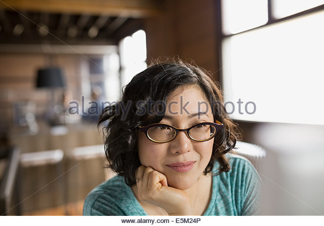 Close up of businesswoman at computer in office - Stock-Bilder