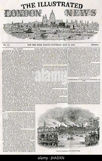 ILLUSTRATED LONDON NEWS First edition 14 May 1842 - Stock Image