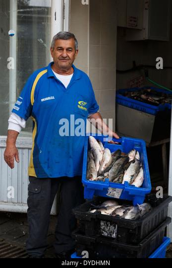 The fish market in Tiberias, Israel. - Stock-Bilder