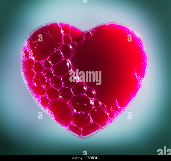 Heart with bubbles - Stock Image