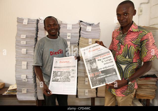 Catholic press, Lome, Togo, West Africa, Africa - Stock Image