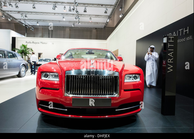 Rolls-Royce Wraith the Dubai Motor Show 2013 United Arab Emirates - Stock Image