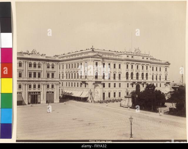 Triest, österreichisch-ungarischer Lloyd - Stock Image