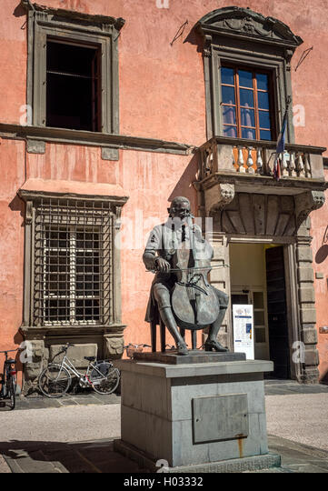 Musical Institute dedicated to composer Luigi Boccherini (Biblioteca Istituto Musicale Luigi Boccherini) in Lucca, - Stock Image