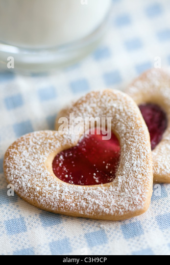 Heart shaped cookies - Stock Image