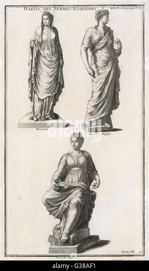 Roman women in various styles of costume - Stock-Bilder