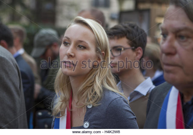 Paris, France. 16th Oct, 2016. Front national MP Marion Maréchal Le Pen takes part in a demonstration organised - Stock Image