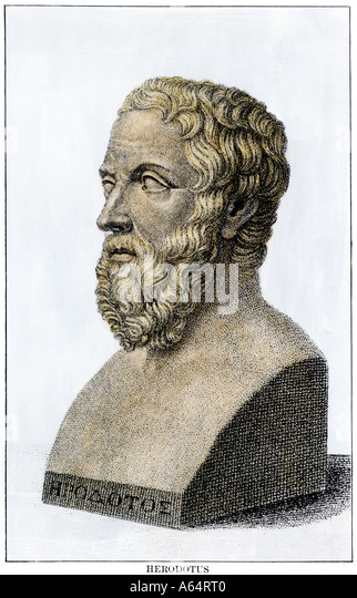 Herodotus the Father of History - Stock Image