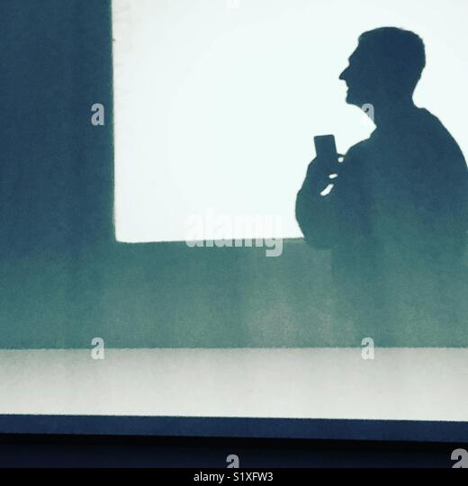 Shadow art reflection - Stock Image
