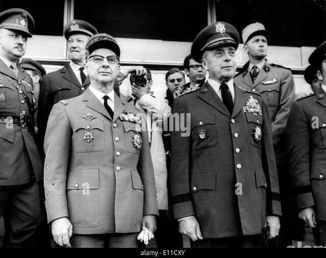 General Charles Ailleret and General Lemnitzer - Stock Image