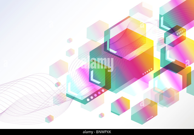 Beautiful colorful abstract background. - Stock Image