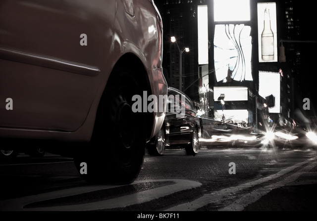 Cars in times square new york - Stock Image