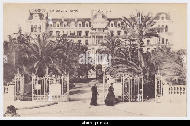 The Grand Hotel, Cannes, France - Stock Image