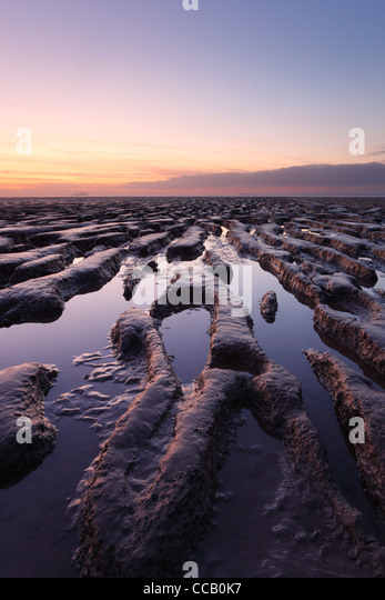 Mudflats at Sand Bay, Weston-super-Mare. Somerset. England. UK. - Stock-Bilder