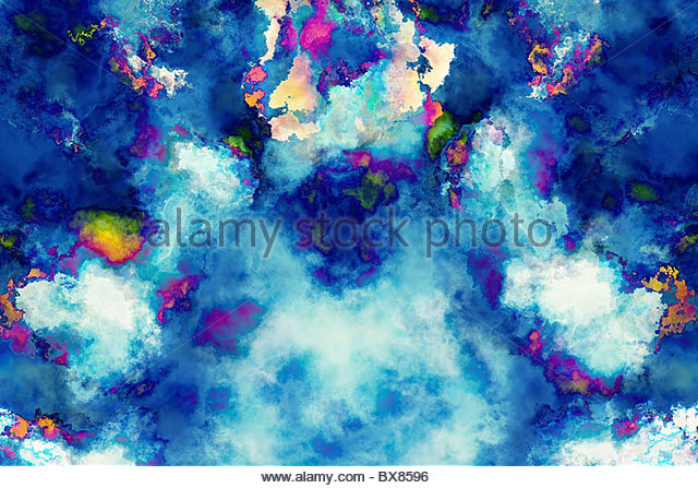 grunge abstract watercolor background - Stock Image