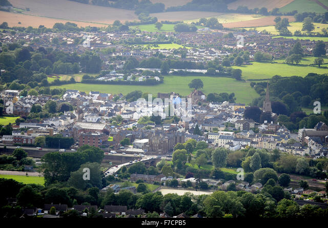 A general view of Monmouth, South Wales, UK. - Stock Image
