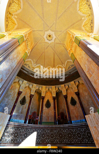 Casablanca Morocco Hassan II Mosque roof detail - Stock Image