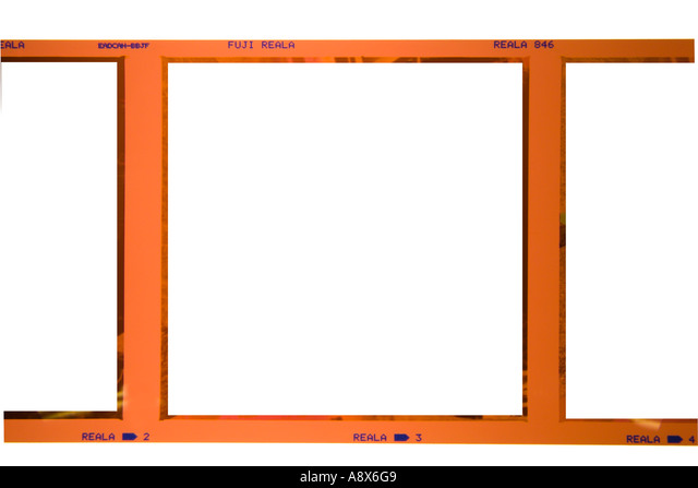 square format color film with image removed - Stock Image