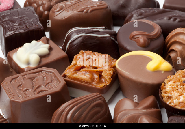 Chocolate bonbons - Stock Image