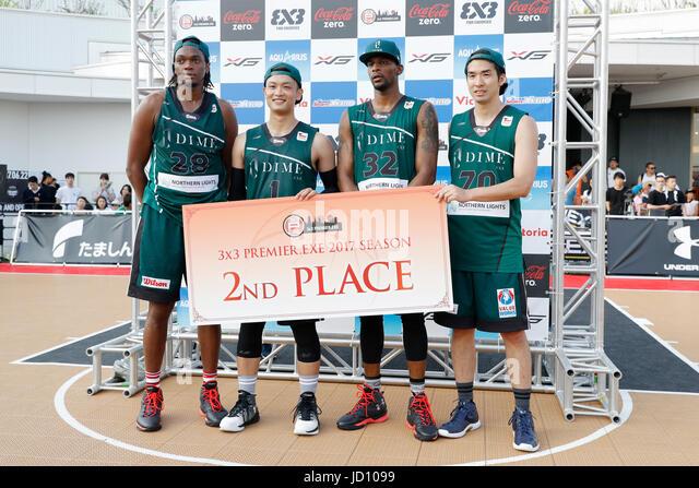 Tokyo, Japan. 17th June, 2017. DIME.EXE team group Basketball : 33 PREMIER.EXE 2017 Season TACHIKAWA Eastrn Conferencel - Stock Image
