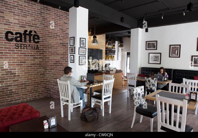 Cafe Strada Rainbow street Amman Jordan - Stock Image