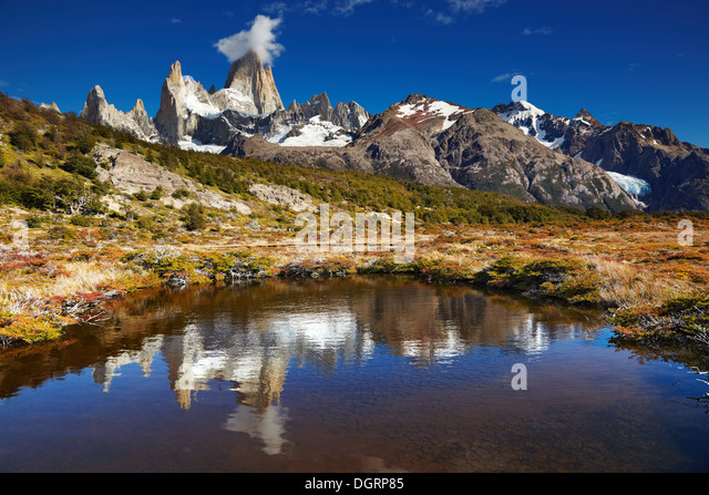 Mount Fitz Roy, Los Glaciares National Park, Patagonia, Argentina - Stock Image