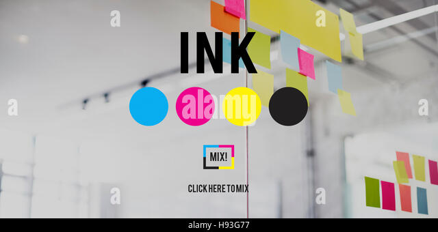 Ink Abstract Arty Pattern Color Paint Liquid Concept - Stock Image