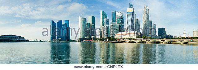 The city skyline, Singapore - Stock Image