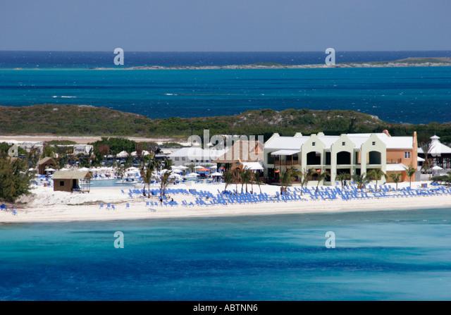 Grand Turk Cockburn Town Cruise Ship Center Atlantic Ocean beach - Stock Image