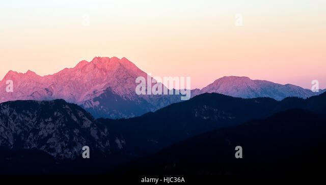 Mountain with a reddish tone. - Stock Image