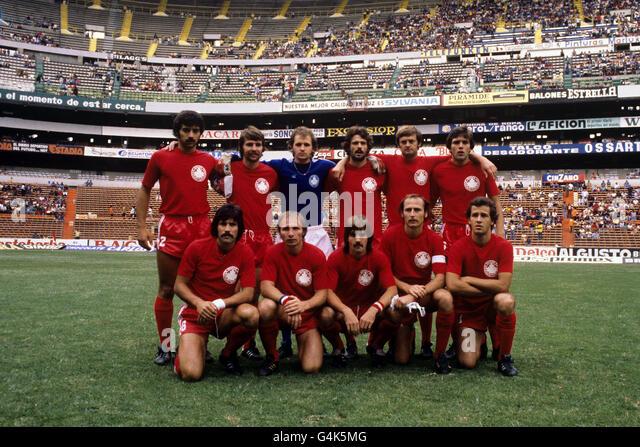 1977 CONCACAF Championship - Soccer - Canada in Mexico - Estadio Azteca - Stock Image