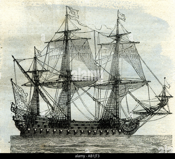 Ship Le Soleil Royal United Kingdom - Stock Image