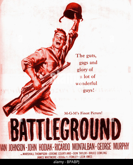 FILM POSTER BATTLEGROUND (1949) - Stock Image