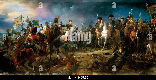 Napoleon at The Battle of Austerlitz, 2nd December 1805 François Gérard - Stock Image