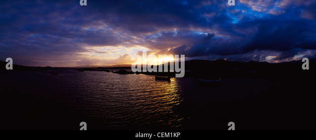 Co Kerry, Kenmare Bay, Ring Of Kerry, Ireland - Stock Image