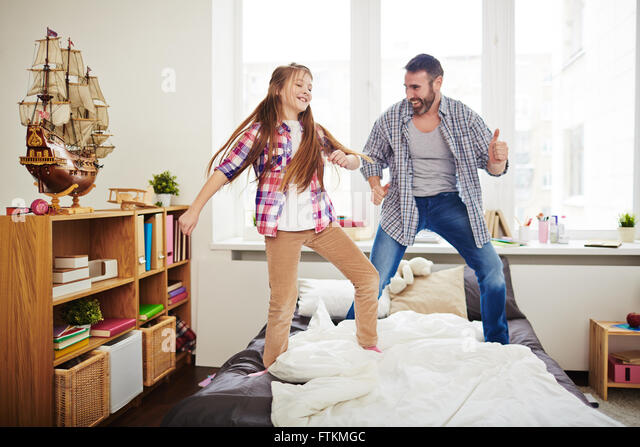 Fun with father - Stock Image