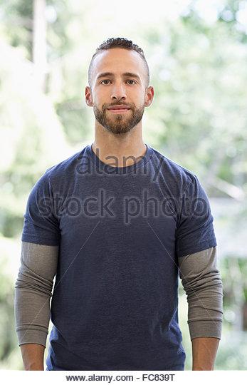 Caucasian man smiling - Stock Image