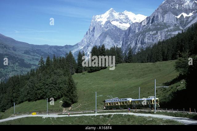 The Wetterhorn, Bernese Oberland, Switzerland - Stock Image