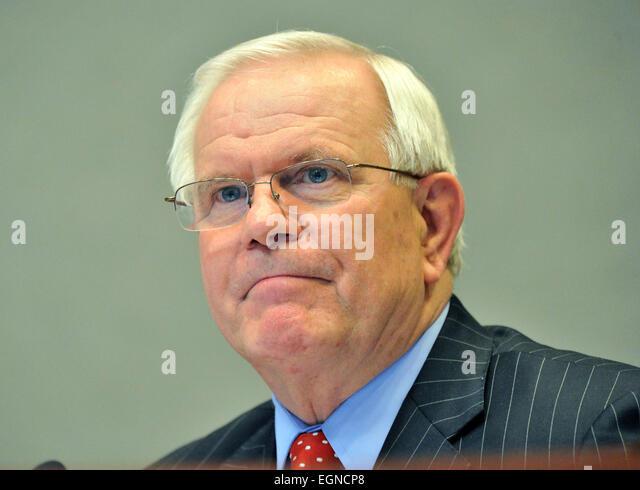 J. Alvin Wilbanks, CEO/Superintendent of Gwinnett County Public Schools, during the Gwinnett County school board - Stock Image