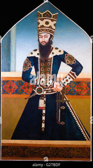 Unknown, Iran, early 19th Century - Portrait of Sheikh Ali Mirza - - Stock Image